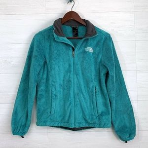 The North Face Teal OSITO 2 Fuzzy Fleece Jacket